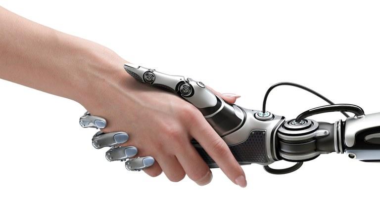 Stretta di mano umano-robot
